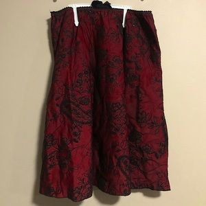 Emily West | Sparkly Floral Girls Holiday Skirt